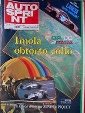 Autosprint 37 1980 Un Casco d'Oro tra Jones e Piquet. Imola GP 80 i piloti SC.53