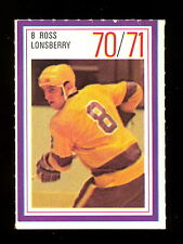 1970-71 ESSO POWER PLAYERS NHL #8 RUSS LONSBERRY EX-NM L A KINGS  UNUSED STAMP