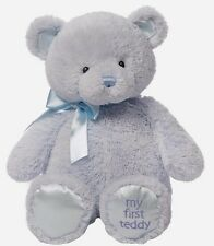 GUND My First Teddy Large Blue Plush Soft Toy (40439801) NEW Xmas Gift Idea