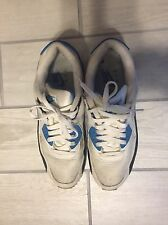 NIKE AIR MAX 90 OG SIZE 11 Laser Blue/White/Black Style Sneakers