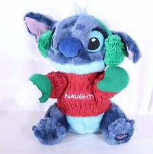 Lilo Stitch Blue Alien Plush Naughty Christmas Sweater Snowball Disney Store