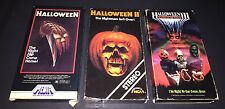 Lot of 3 Halloween (Michael Myers) VHS Tapes - 1, 2, & 3 - MCA, Media, GoodTimes