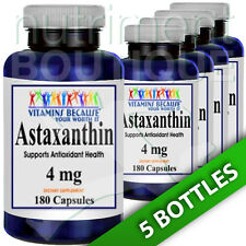 Astaxanthin 4mg 6X180 Capsules (from Haematococcus Algae) by Vitamins Because