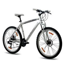 "26"" POLLICI MTB MOUNTAIN BIKE BICICLETTA chrisson Terier con 21g Suntour BIANCO TOP"
