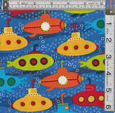 Patchwork / Craft tessuto Fat Quarter Robert Kaufmann Splish Splash sottomarini