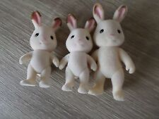 SYLVANIAN FAMILIES RABBIT FAMILY GIRLS BOYS FUN TOYS X3