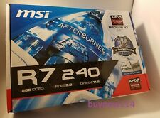 MSI AMD RADEON R7 240 VIDEO GRAPHICS CARD 2GB DDR3 PCIE VGA/DVI/HDMI Low Profile