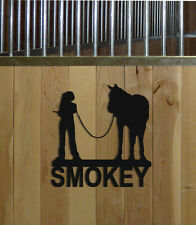 HORSE STALL SIGN-HORSES-EQUESTRIAN DECOR-HORSE SIGNS-SADDLES-HALTERS