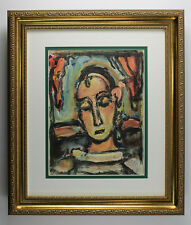 "Georges ROUAULT 1939 ORIGINAL Color Lithograph ""The Abstract Beauty"" Framed COA"