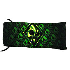 Wicked Sports Barrel Sock / Cover - Wicked Skulls - Green