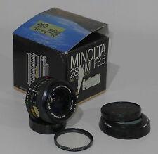 Obbiettivo grandangolo Minolta MD Rokkor 28mm f/3.5 con filtro UV ottimo stato