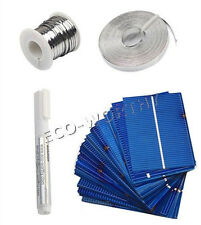 40pcs 52x78mm células solares Kit w/tab Cable De Bus & Flux Pen Para hágalo usted mismo 20 W Panel Solar