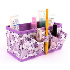 Makeup Cosmetic Storage Box Bag Bright Organiser Foldable Stationary Container