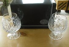 "Boxed Pair of Bohemia Crystal Diana 14oz Brandy Balloons - 4 7/8""( 12.5cms)"