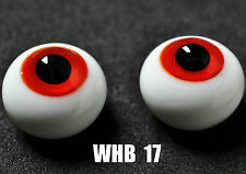 Gorgeous colour 14mm Red with Lines Glass BJD Eyes for 1/4 BJD Dollfie