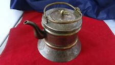 Antique Chinese Metal Brass Highly Ornate Teapot