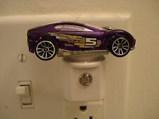 Hot Wheels Synkro in purple with #5 CUSTOM LED NIGHTLIGHT