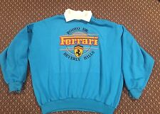 Vintage USA made 80s FERRARI sweatshirt Rodeo Drive Beverly Hills