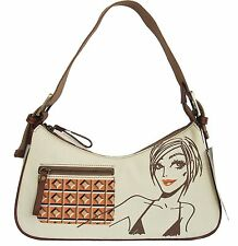 JORDI LABANDA Handbag Canvas Multi Color New