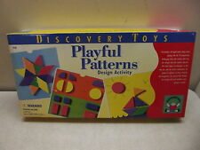 DISCOVERY TOYS PLAYFUL PATTERNS DESIGN ACTIVITY 100% W/ ALL FOAM PIECES & CARDS