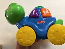 2007 Fisher Price/Mattel Turtle ~ Numbers and shapes ~ Push down Shapes to play