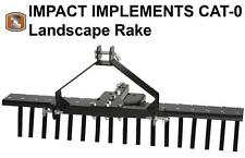 IMPACT IMPLEMENTS CATEGORY 0  Landscape Rake for Compact Tractors
