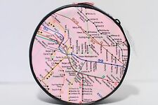 NYC Subway Round Maps Zippered Pouch Case NEW
