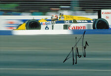 Nelson Piquet Hand Signed Williams Photo 12x8 5.