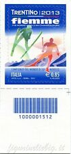 2013 francobollo Campionati del Mondo di Sci Nordico a Fiemme SX BARRE 1512