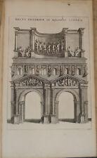 Stampa antica Arco Verona Mortier Panvinio Architettura incisione engraving