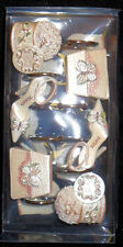 Diva Girly Girl Haute Couture Shower Curtain Hooks Sexy Set Of 12 New