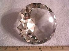 Crystal faceted glass diamond shape sales aid display clear crystal 4x2.5 inch