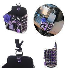 Car Accessory Air Vent Bling Luxury 3D Diamond Pouch Pocket Bag Organizer Holder