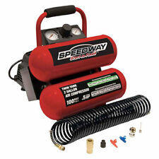 Speedway 2-Gallon Twin Stack Portable Air Compressor w/ Kit