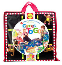 *NEW* ALEX Games To Go - Tic-Tac-Toe Checkers Mancala Snakes & Ladders - Age 5+