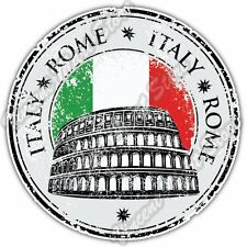 Rome Italy Country Flag Stamp Car Bumper Window Vinyl Sticker Decal 4.6""
