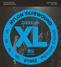 D'Addario Nylon Tapewound ETB92 Long Scale Medium Gauge Electric Bass Strings