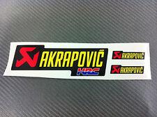 3 Adesivi Stickers AKRAPOVIC HRC resistente al calore