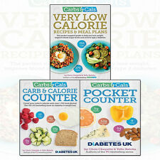 Chris Cheyette Carbs & Cals Very Low Calorie Recipes 3 Books Collection Set NEW