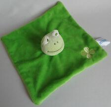 DM Babylove Schmusetuch Frosch Grün mit Kleeblatt