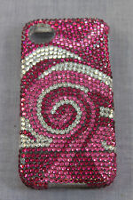 OLcell HADMADE PINK SWIRL IPHONE 4 CASE COVER CZECH CRYSTALS NEW SWAROVSKI  $149