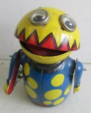VINTAGE 1960's MARX MOON CREATURE SPACE ALIEN BUG WORKING TIN WIND UP TOY