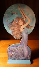 SPARKLE MAGIC BEADED MERMAID Sea Turtle Starfish Beach Home Decor Sign NEW - B