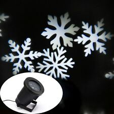 Snowflakes Lamp LED Laser Light for Landscape House Outdoor Christmas Garden