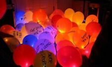 Set of 24 Assorted LED Light up Balloons Party Latex Balloons