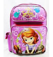 "NWT Sofia the First 14"" Medium Backpack Bag Pink Newest Style Licensed by Disney"
