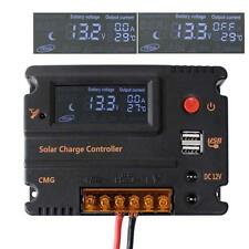 20A 12V 24V Mppt LCD Solar Panel Battery Regulator Charge Intelligent Controller