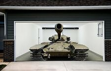 Military Tank Decor for Garage Door Banner Army 3d Effect Outdoor Outside GD93