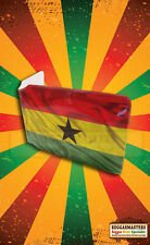Ghana Print Bus Pass Travel Card Plastic Wallet Africa Roots
