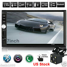 7'' HD Touch Screen Bluetooth Car Stereo Radio 2 DIN FM/MP5/MP3/USB/AUX   Camera